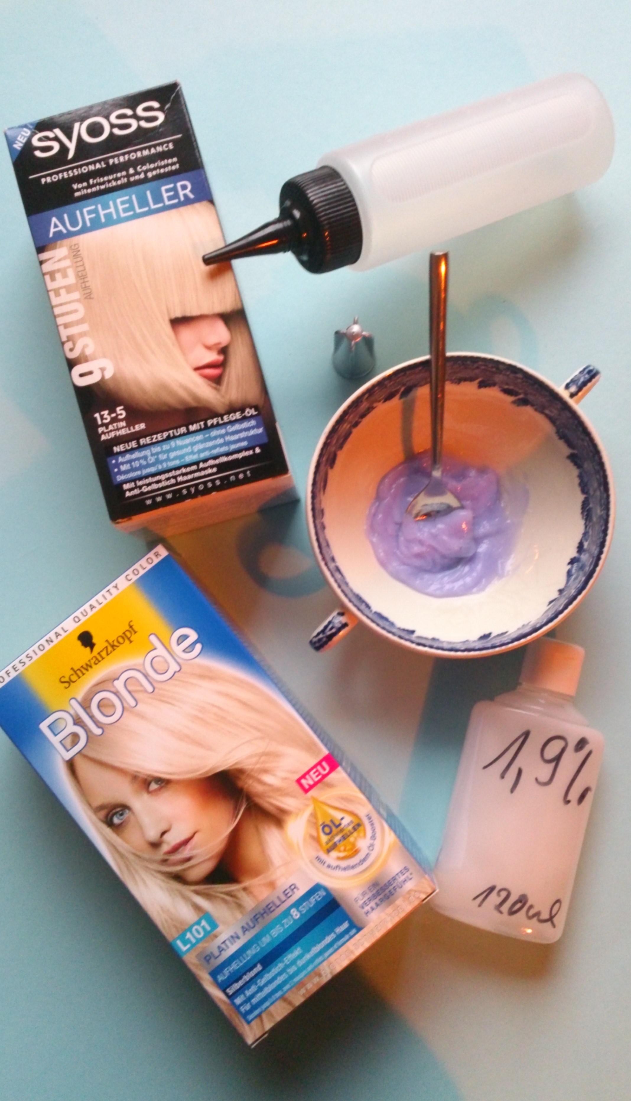Haare blondieren nass oder trocken